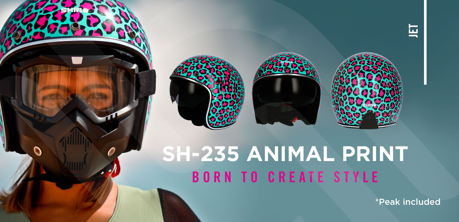BANNER-CASCO-SHIRO-SH235-ANIMAL-PRINT