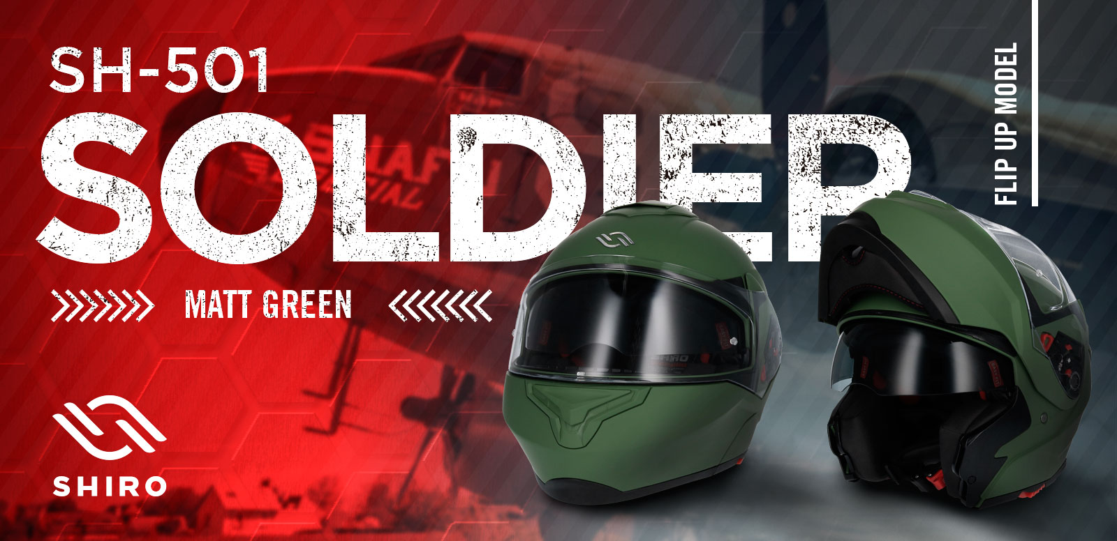 BANNER-CASCO-SHIRO-SH501-SOLDIER-MATT-GREEN